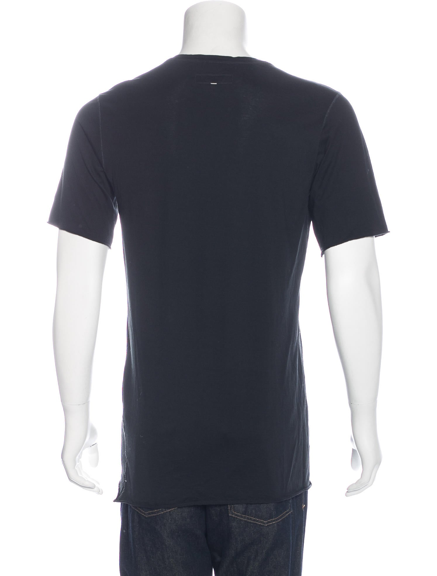 Rag Bone Distressed Stitched T Shirt Clothing