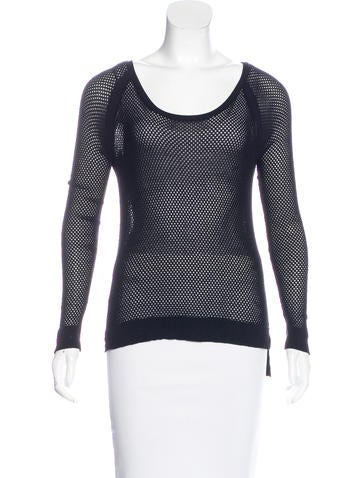 Rag & Bone Open Knit Raglan Sleeve Sweater None