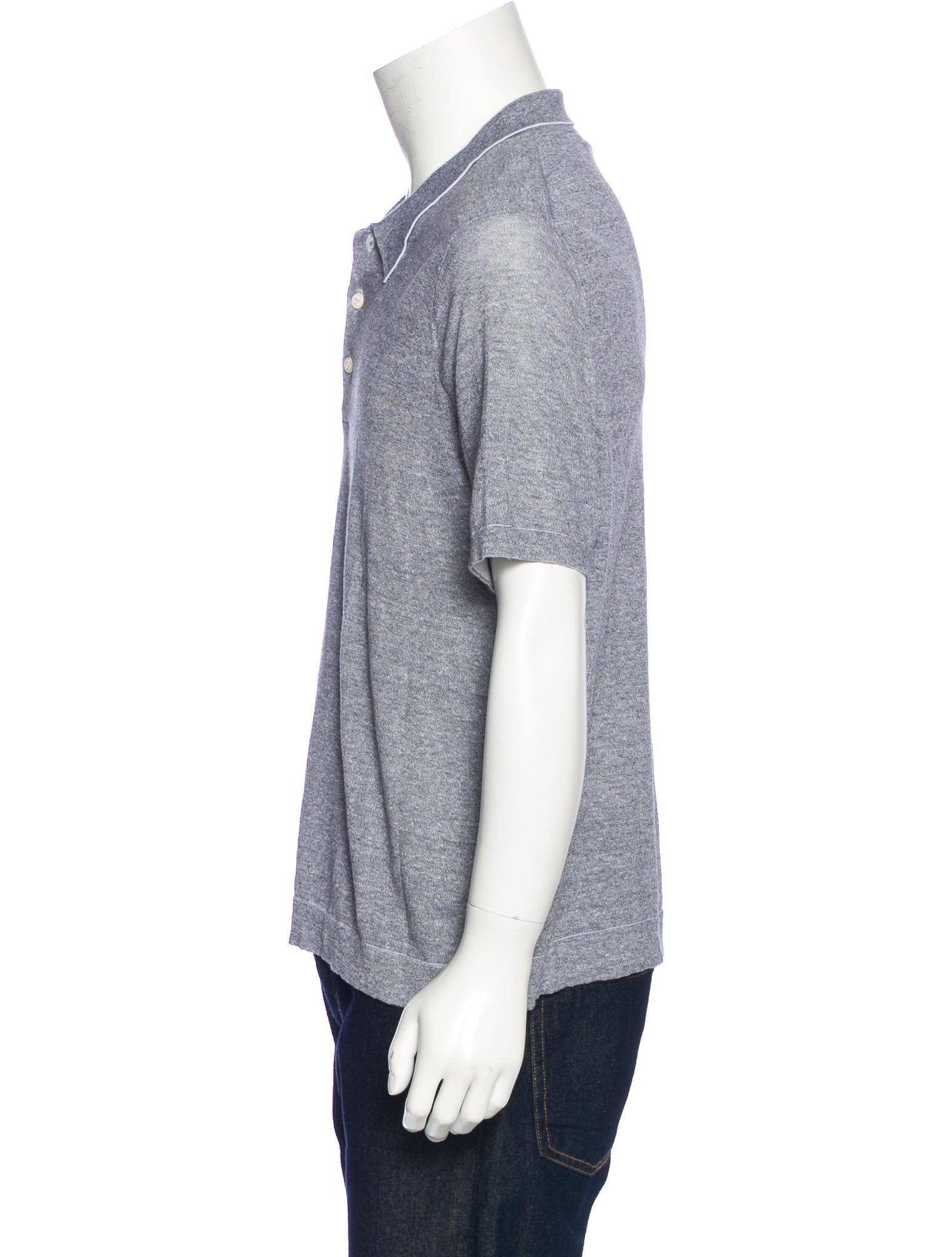 Rag Bone Knit Polo Shirt Clothing Wragb75790 The