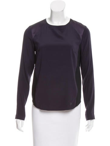 Rag & Bone Silk Long Sleeve Top None