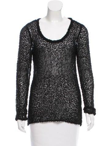 Rag & Bone Wool Open Knit Sweater None
