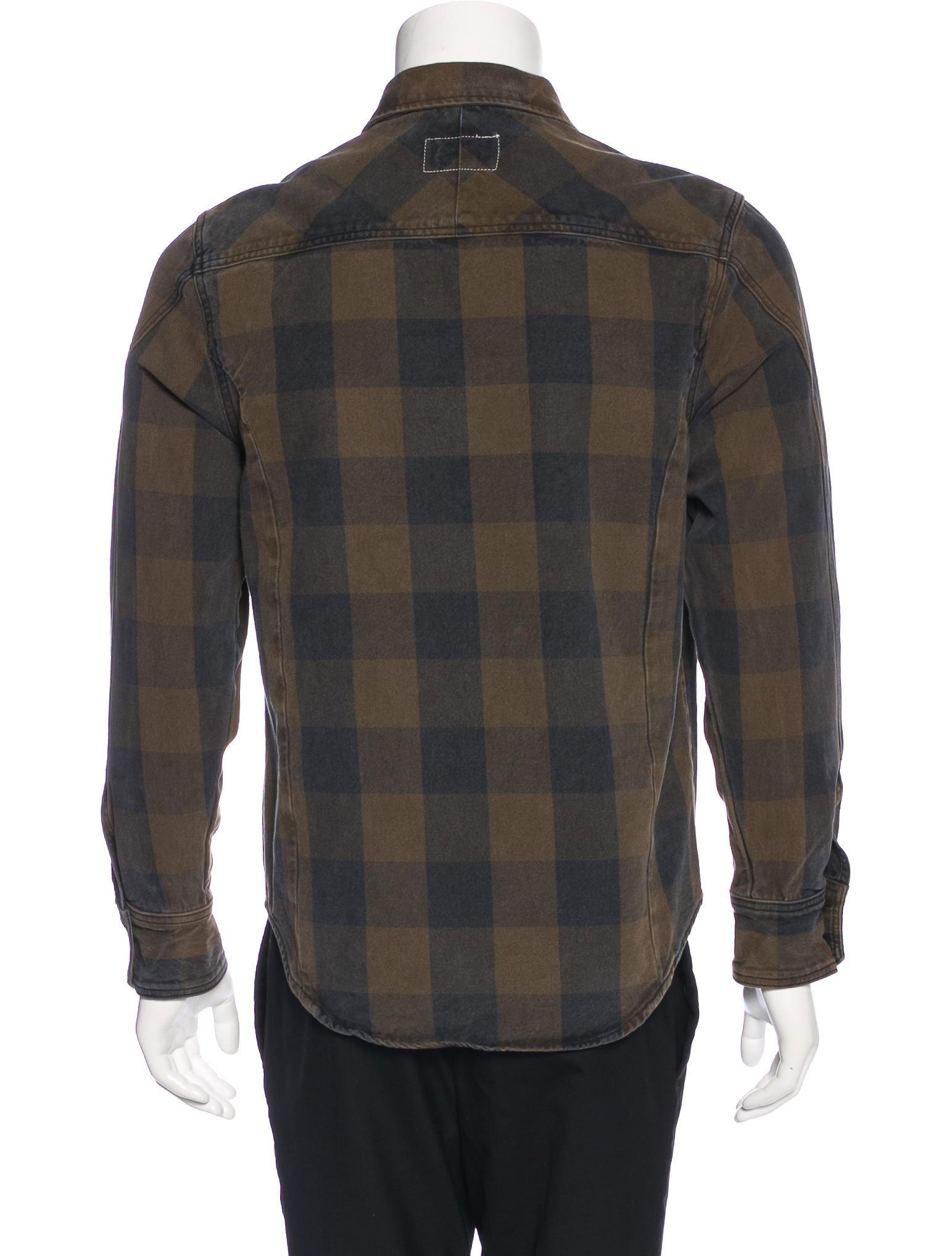 Rag Bone Plaid Denim Shirt Clothing Wragb76505 The