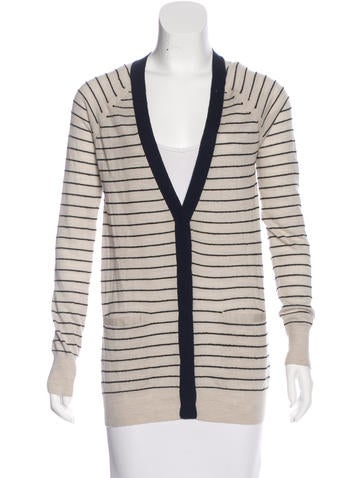 Rag & Bone Striped Wool Cardigan None