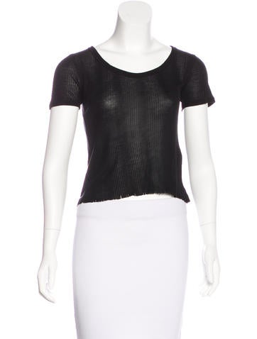 Rag & Bone Rib Knit Crop Top None