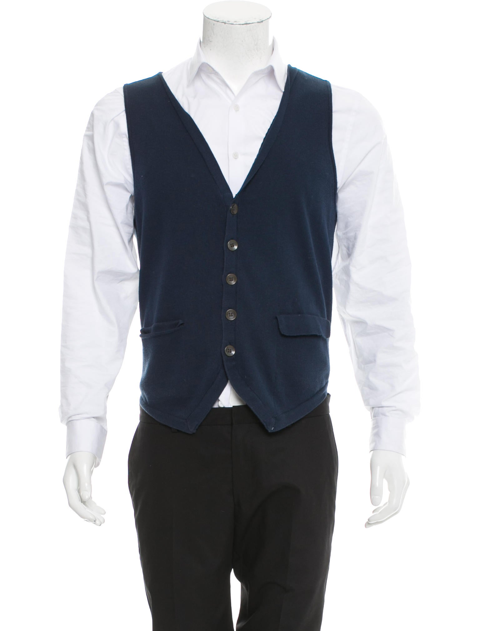Rag & Bone Button-Up Sweater Vest - Clothing - WRAGB77363 | The ...
