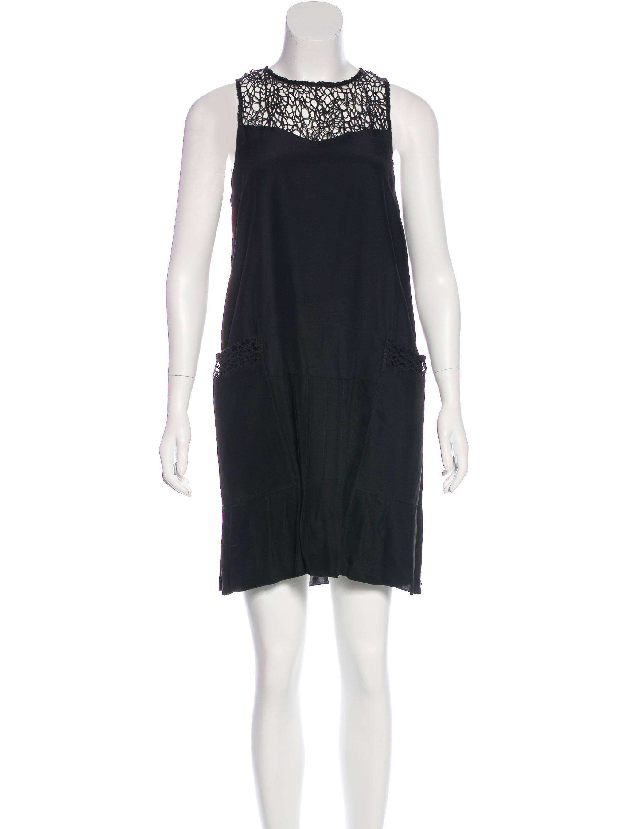 Rag Amp Bone Lace Trimmed Silk Dress Clothing Wragb78360
