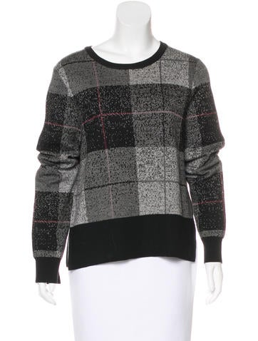 Rag & Bone Wool Plaid Sweater None