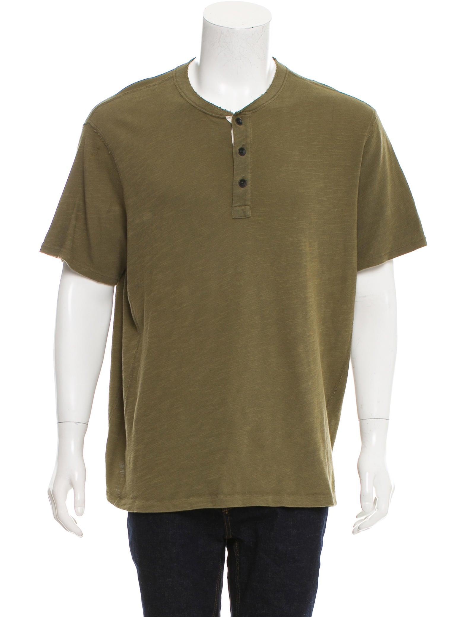 Rag bone short sleeve henley t shirt clothing for Rag and bone mens shirts sale