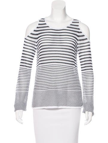 Rag & Bone Striped Cold-Shoulder Top None