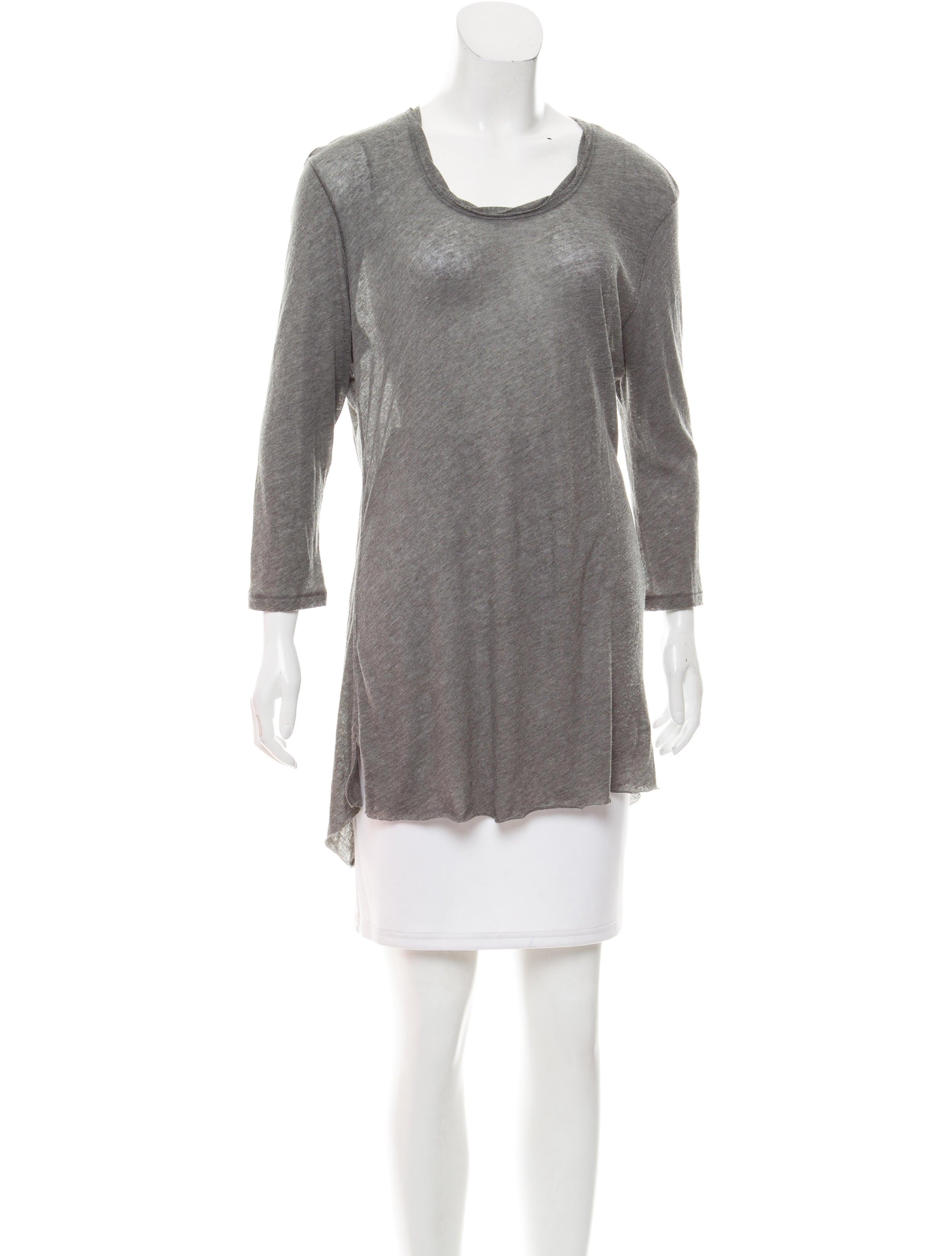 Rag bone long sleeve raw edge t shirt clothing for Raw edge t shirt women s
