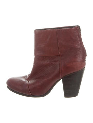 Rag & Bone Newbury Leather Ankle Boots None