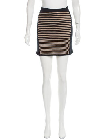 Rag & Bone Rib Knit Pencil Skirt None