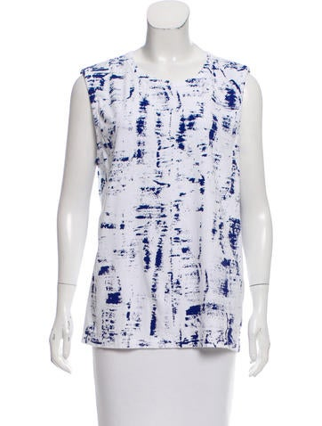 Rag & Bone Sleeveless Printed Top None