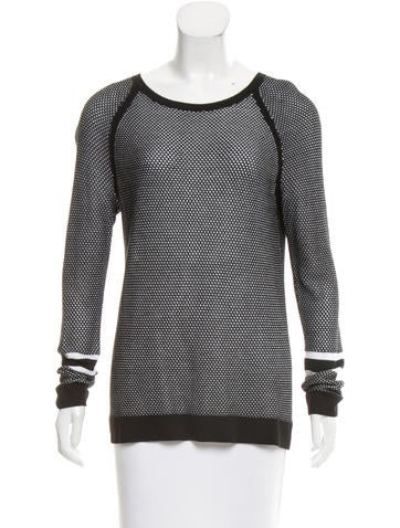 Rag & Bone Perforated Knit Top None