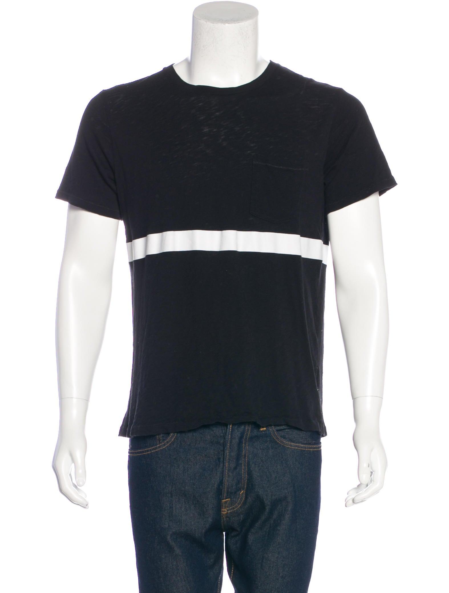 Rag Bone Striped Crew Neck T Shirt Clothing