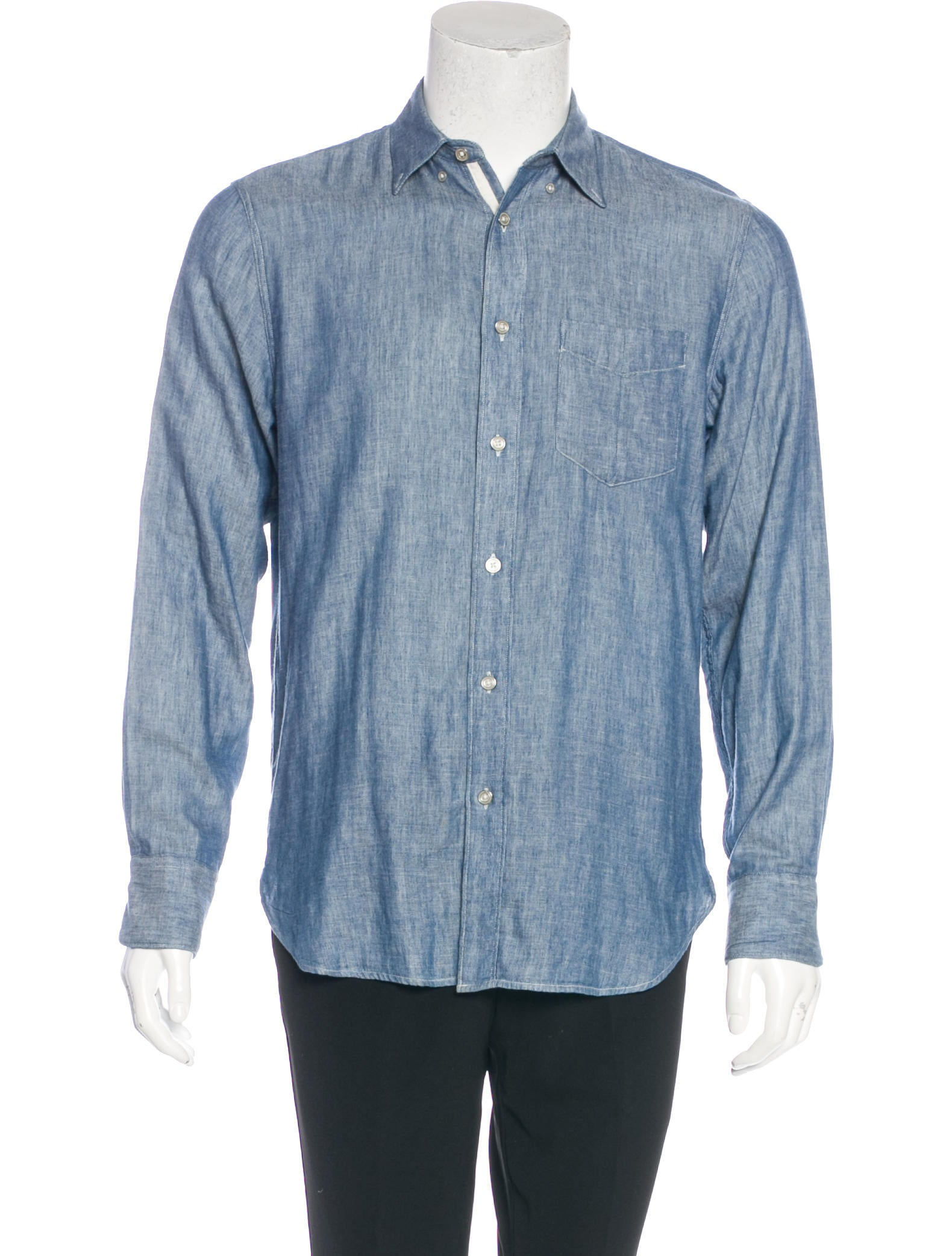 Rag bone chambray classic fit shirt clothing for Rag and bone mens shirts sale