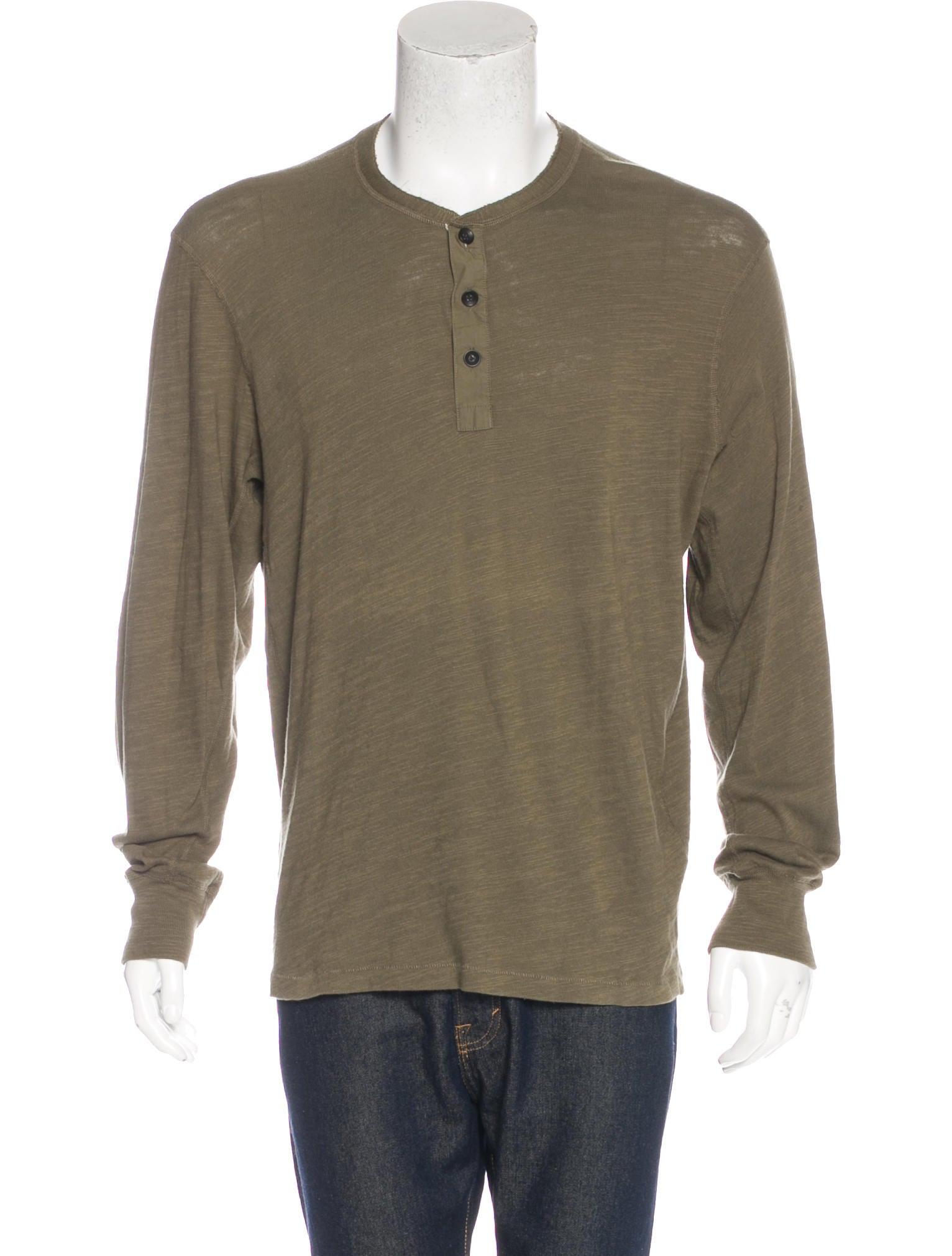 Rag bone long sleeve henley t shirt clothing for Henley t shirt long sleeve