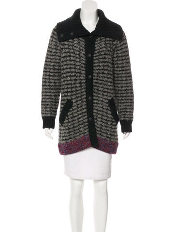 Rag & Bone Wool & Alpaca Button-Up Cardigan None