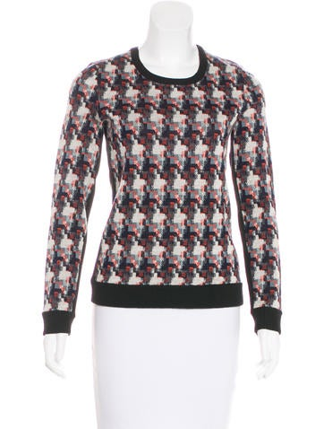 Rag & Bone Wool-Blend Patterned Sweater None