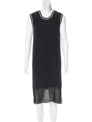 Rag & Bone Silk Midi Dress None