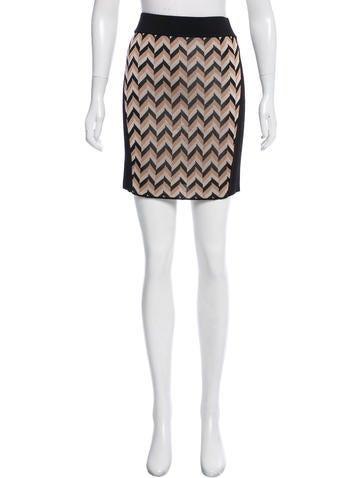 Rag & Bone Pattern Knit Mini Skirt None