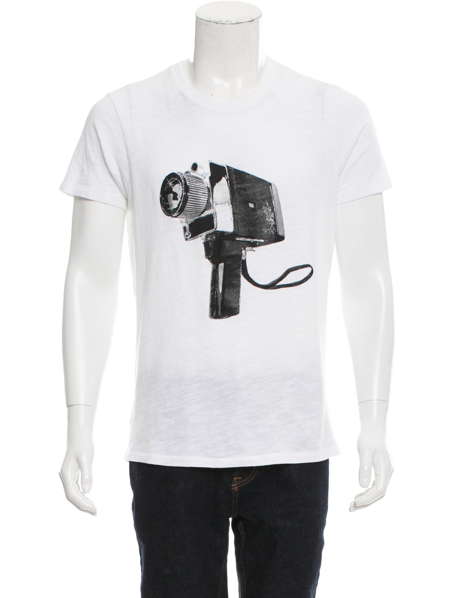 Rag bone hand camera crew neck t shirt clothing for Rag and bone t shirts