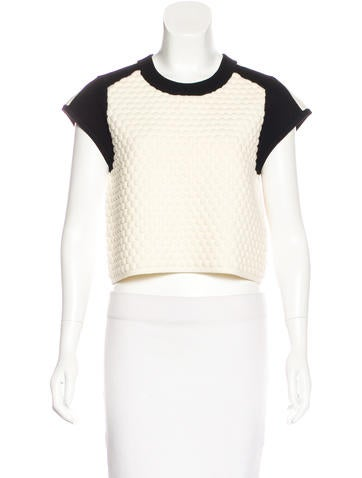 Rag & Bone Merino Wool Textured Top None