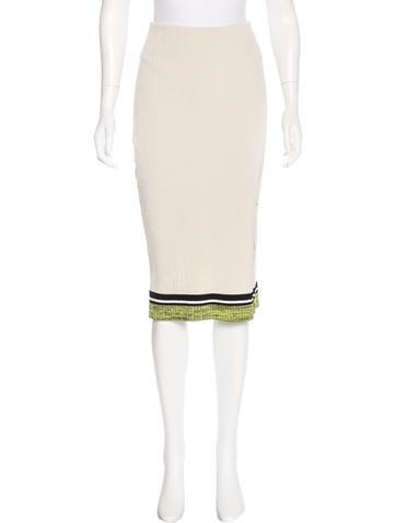 Rag & Bone Striped Knee-Length Skirt None