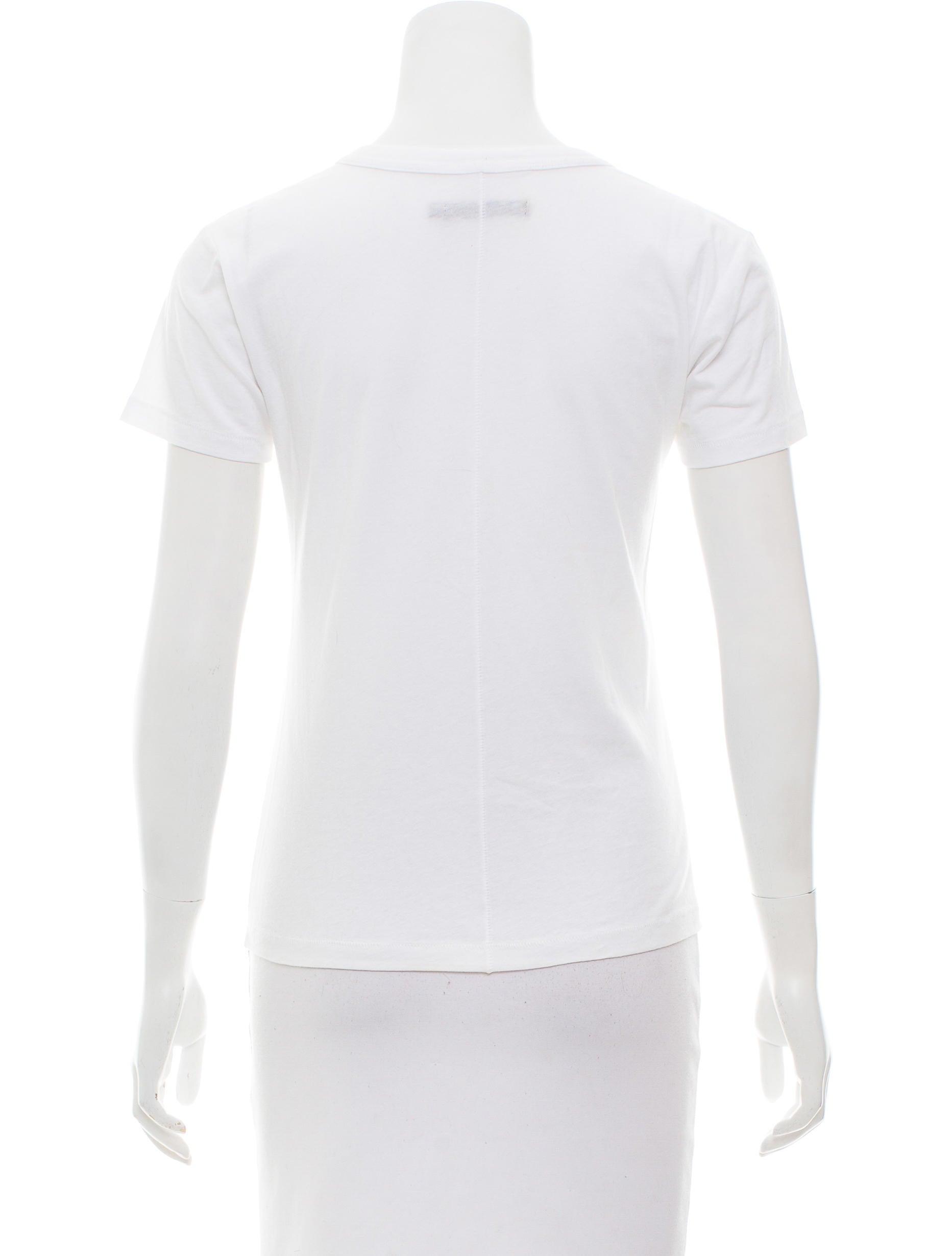 Rag bone knit crew neck t shirt clothing wragb83103 for Rag and bone white t shirt