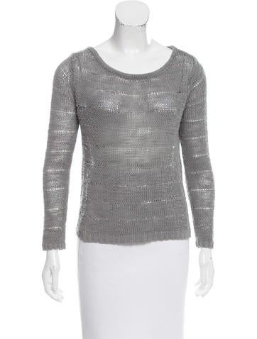 Rag & Bone Linen Open Knit Sweater None