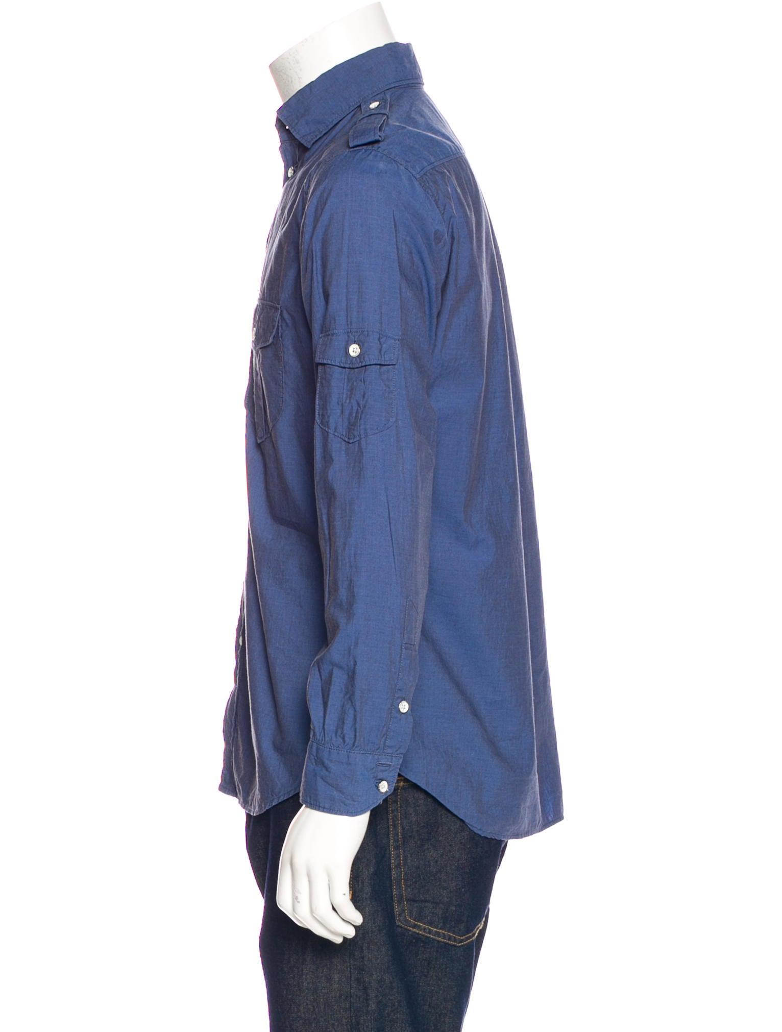 Rag bone utility button up shirt clothing wragb83365 for Rag and bone mens shirts sale