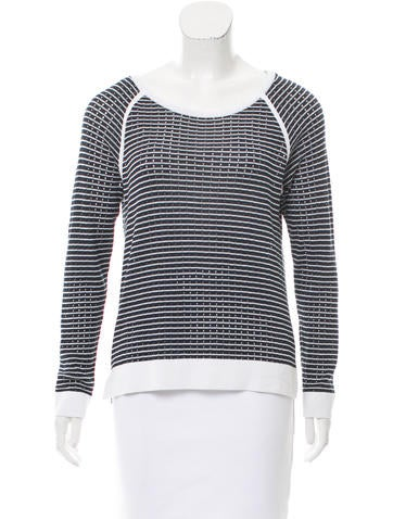 Rag & Bone Striped Knit Sweater None