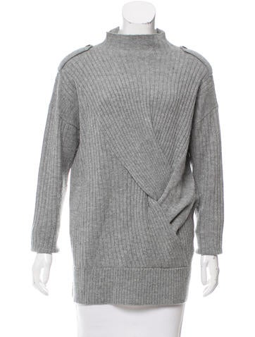 Rag & Bone Rib Knit Wool Sweater None