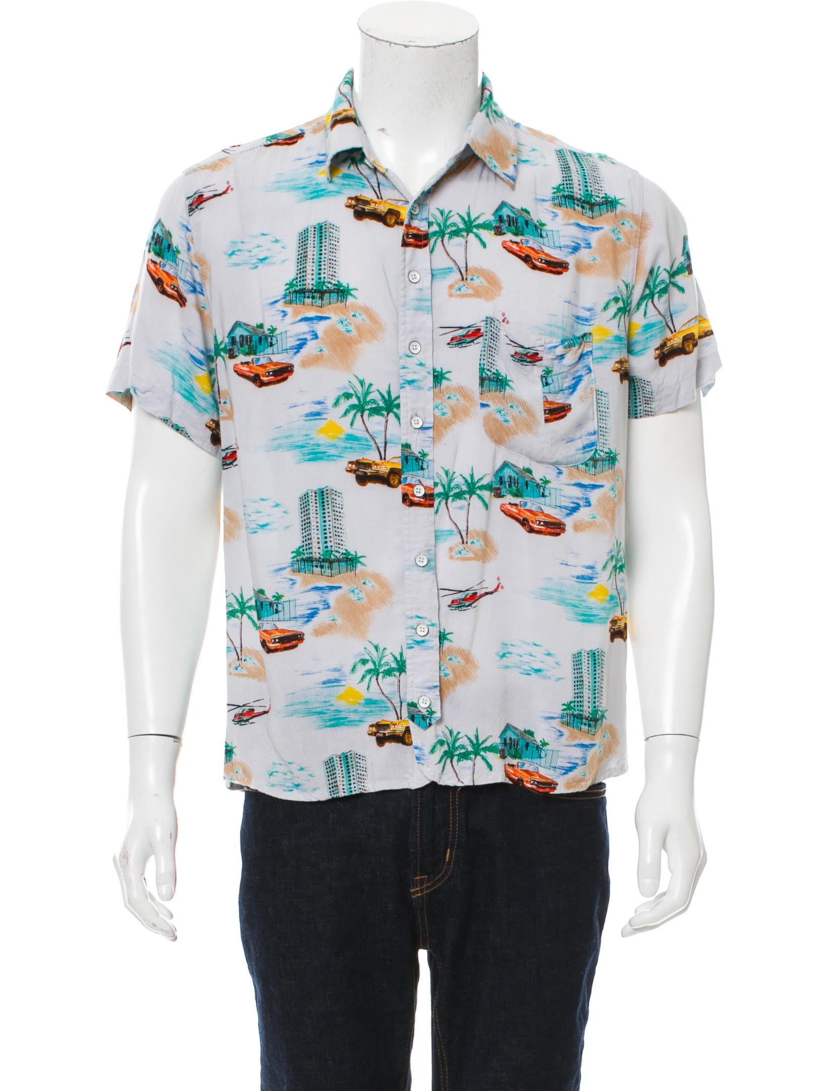 Rag bone hawaiian print button up shirt clothing for Rag bone shirt