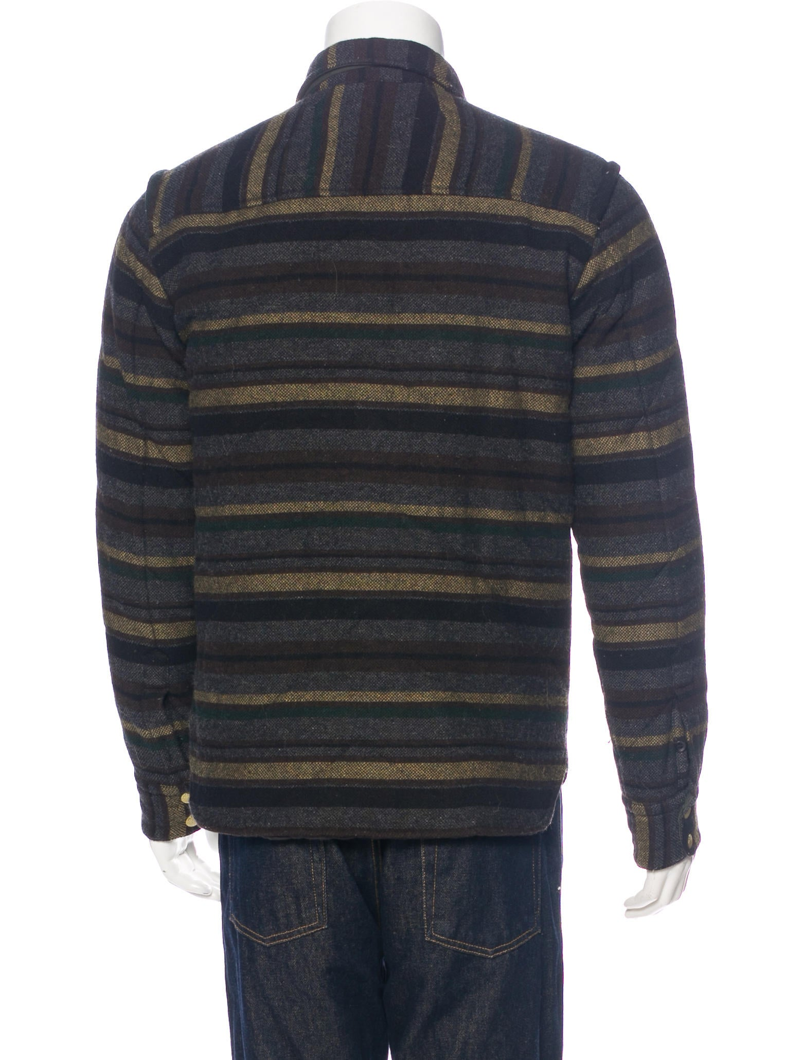 Rag Bone Striped Wool Quilted Jacket Clothing