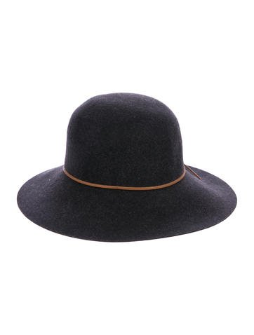 Rag & Bone Leather-Trimmed Wool Hat None