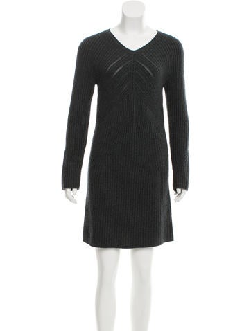 Rag & Bone Wool Rib Knit Dress None