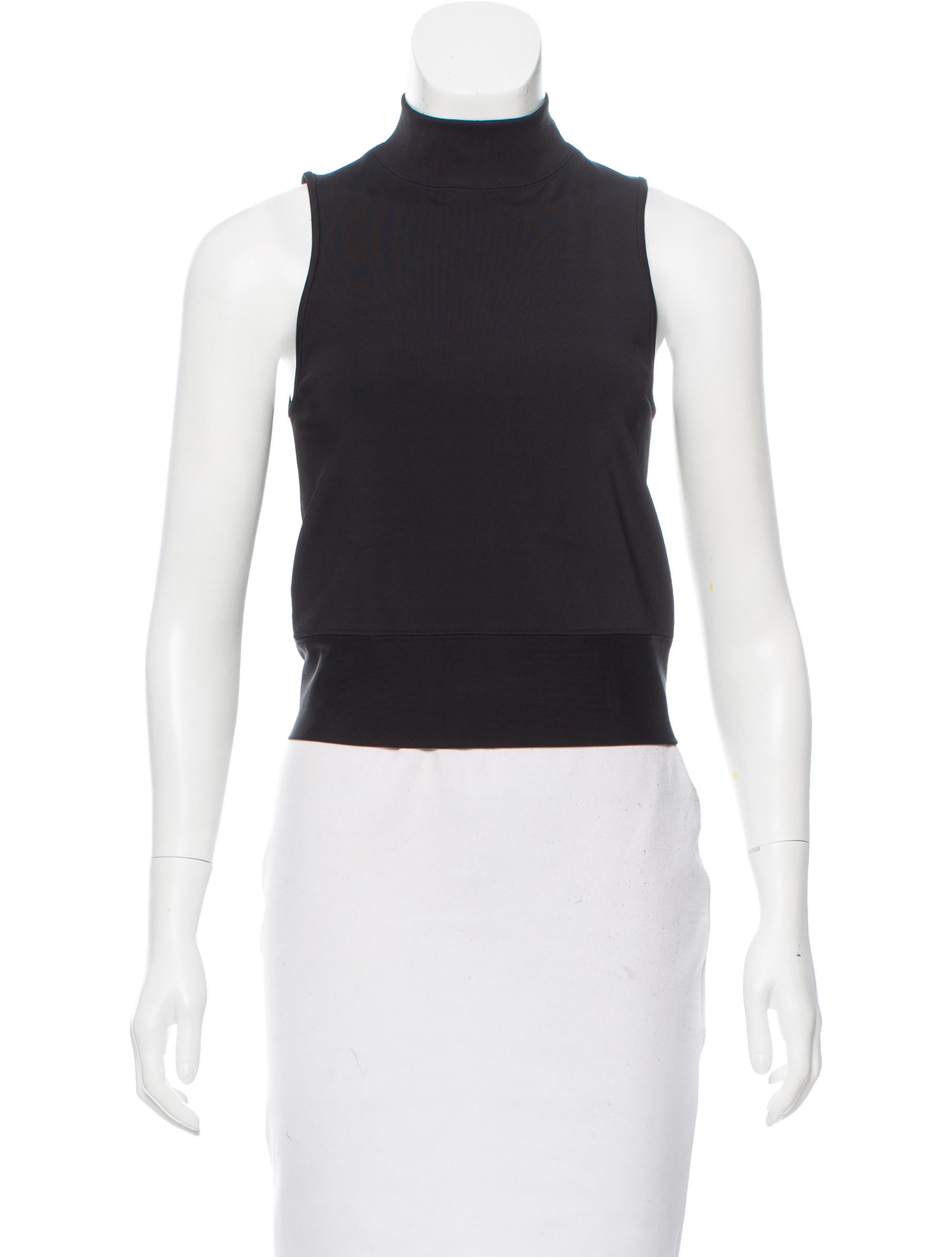 Rag bone sleeveless mock neck top clothing for Sleeveless mock turtleneck shirts