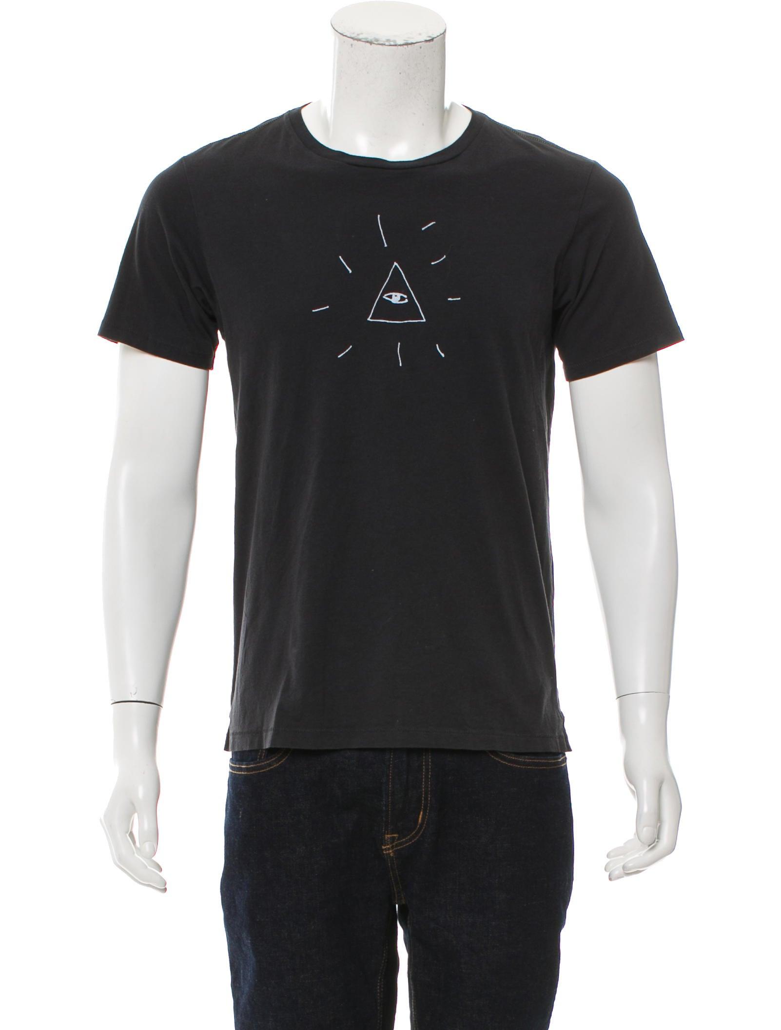 Rag Bone Graphic Print Crew Neck T Shirt Clothing