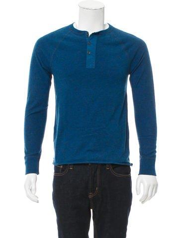 Rag & Bone Rib Knit Henley Shirt None