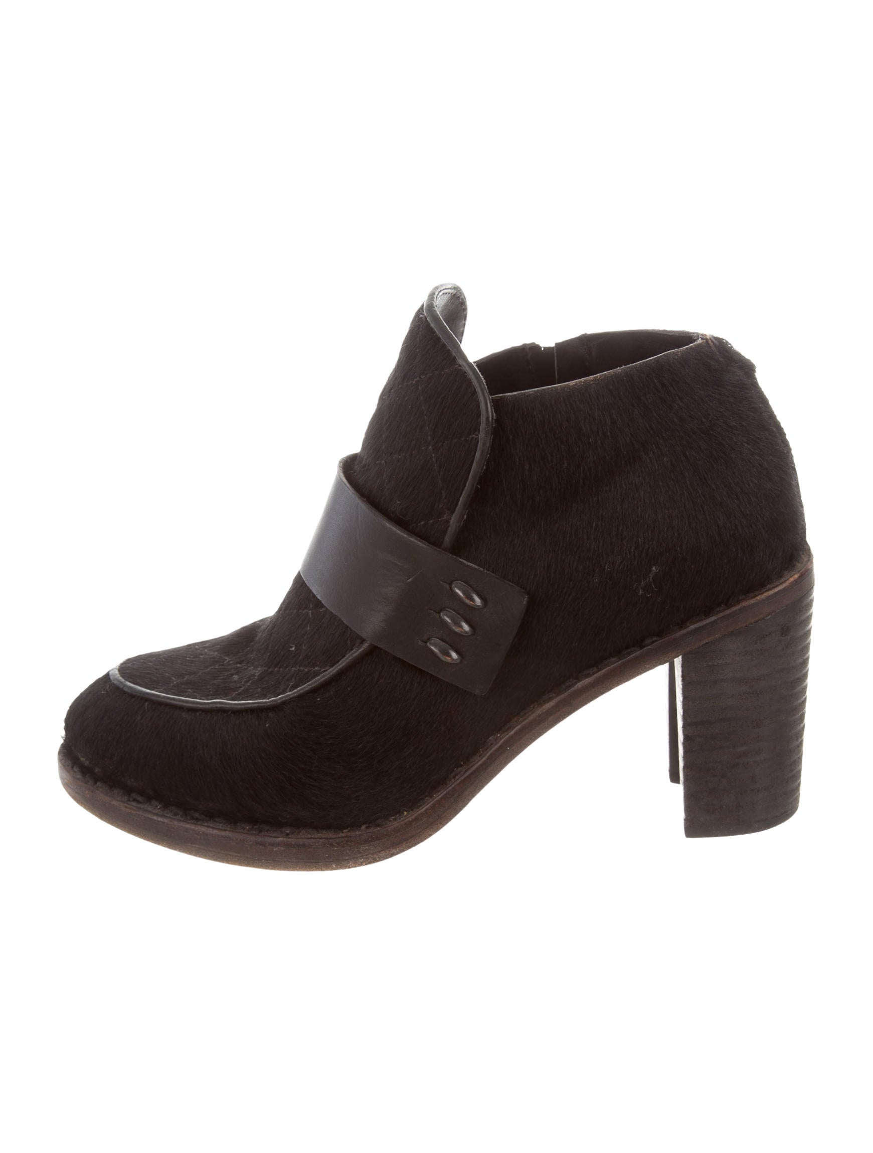 amazon footaction Rag & Bone Ponyhair Leather-Trimmed Ankle Boots buy cheap finishline NYunkByh