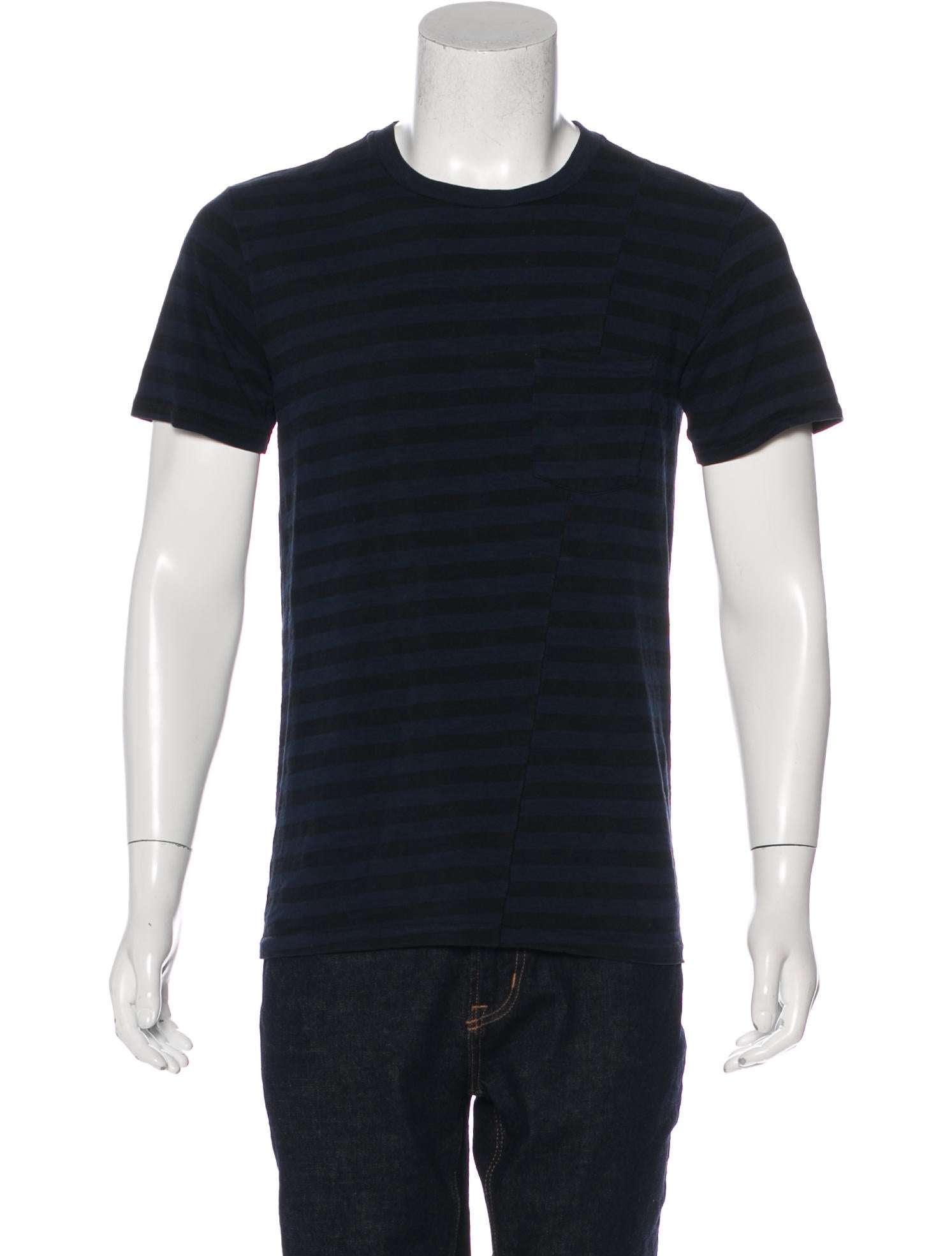 Rag Bone Striped Pocket T Shirt Clothing Wragb89034
