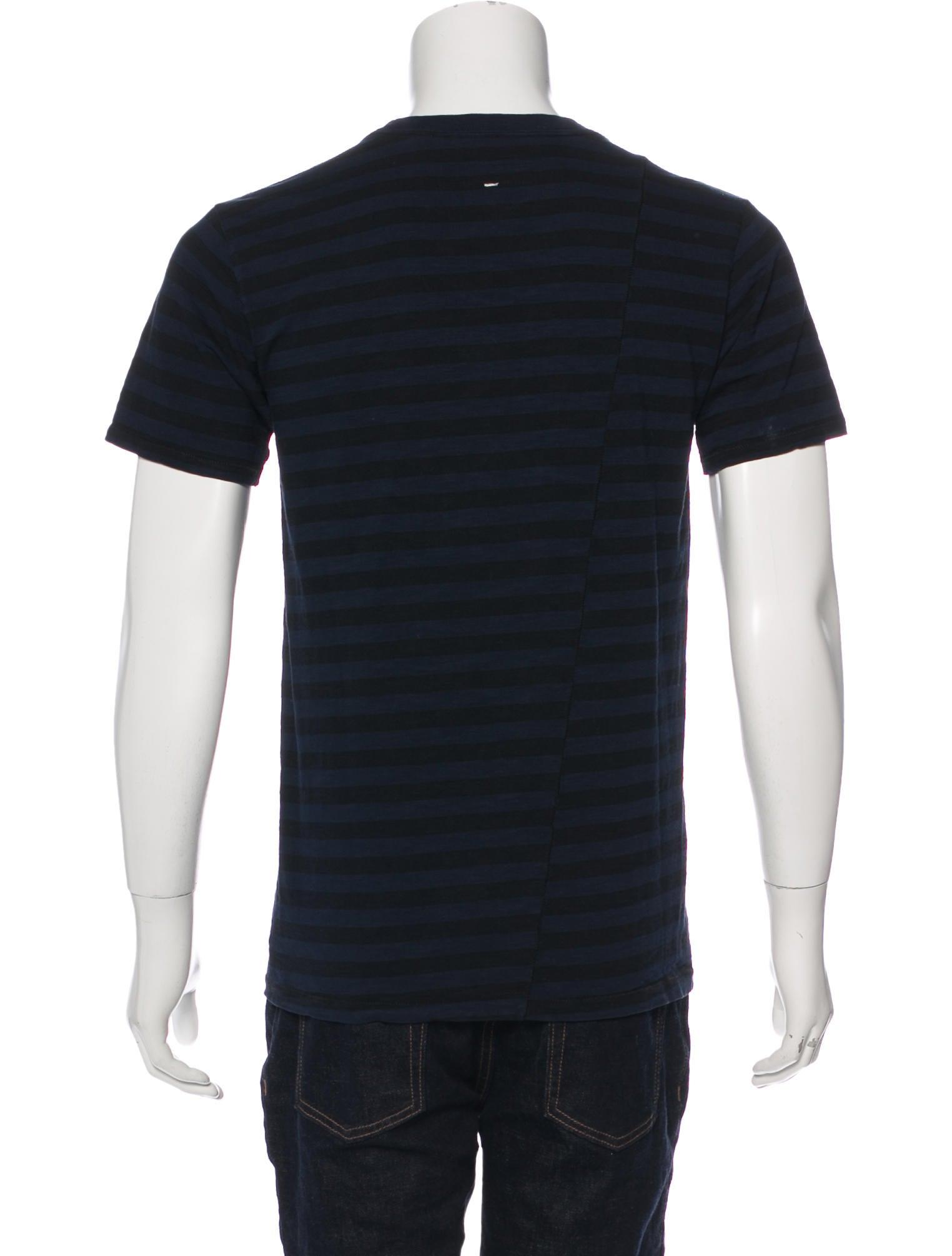 Rag bone striped pocket t shirt clothing wragb89034 for Rag bone shirt