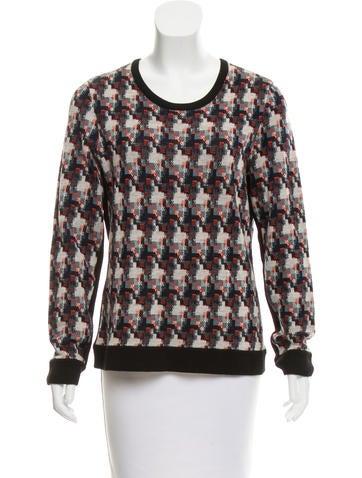 Rag & Bone Intarsia Knit Wool Sweater None
