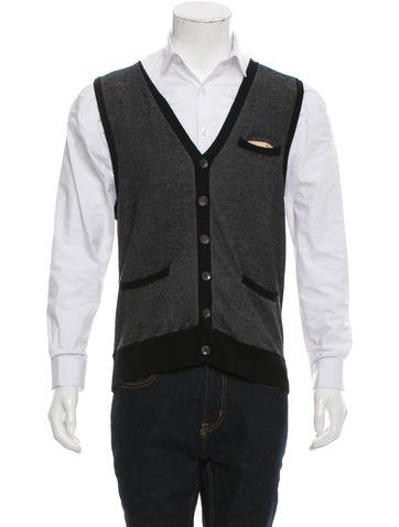 Rag & Bone Wool Cardigan Vest None