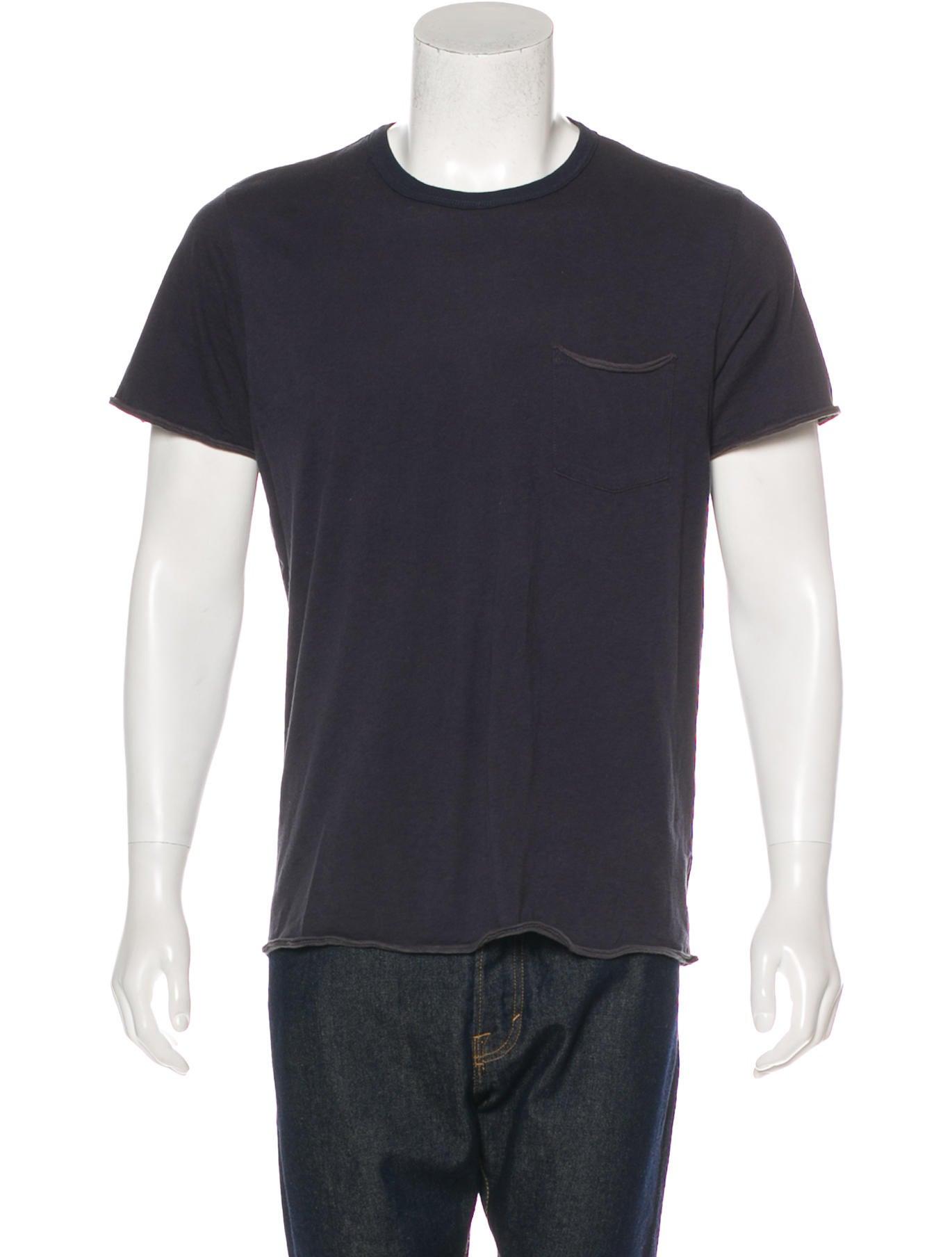 Rag Bone Washed Crew Neck T Shirt Clothing