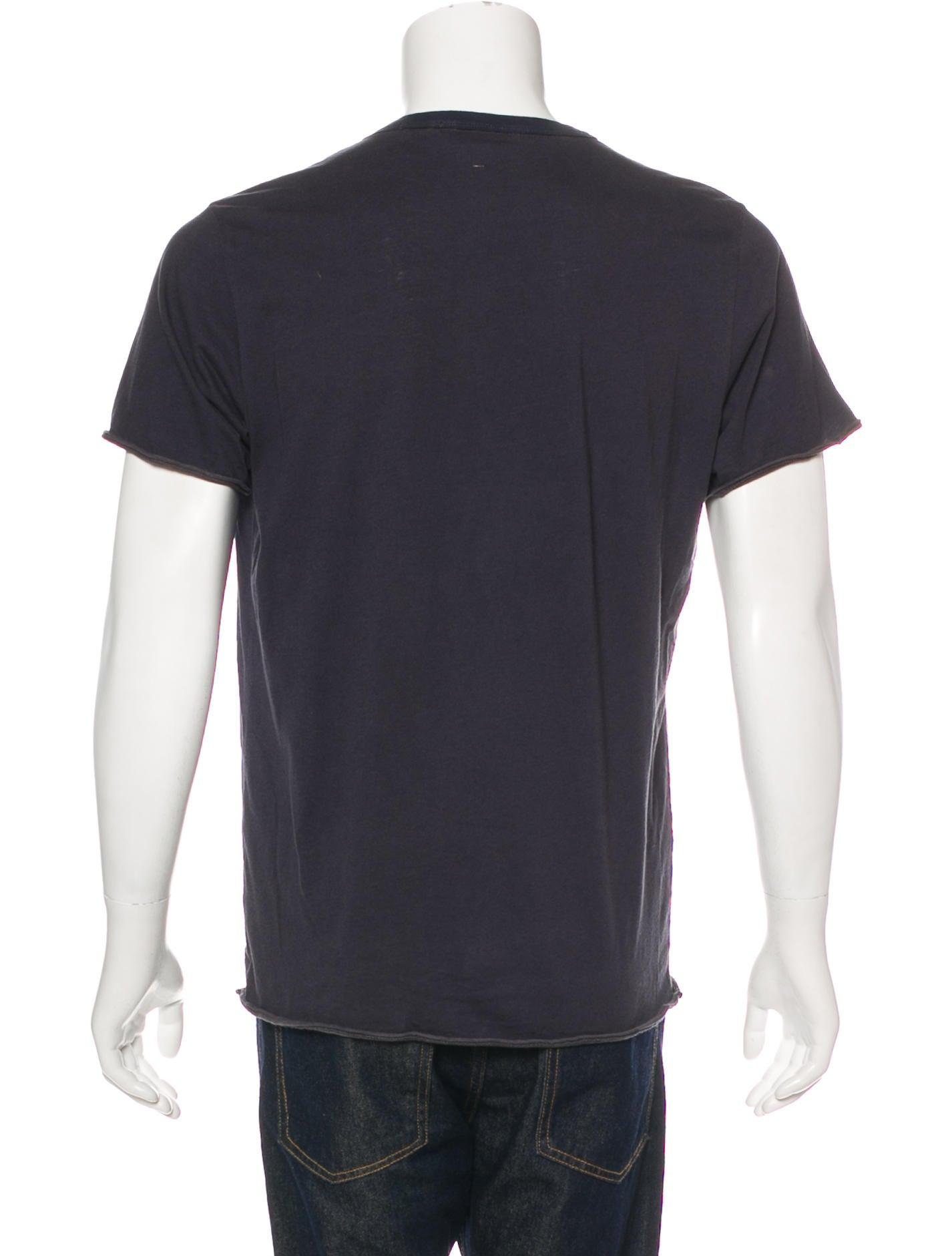 T Shirt Rag Dispenser ~ Rag bone washed crew neck t shirt clothing