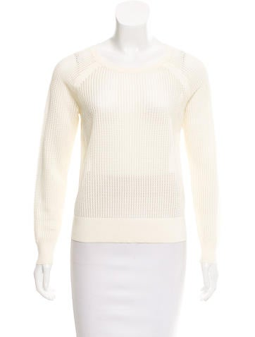 Rag & Bone Open Knit Scoop Neck Sweater None