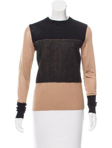 Rag & Bone Paneled Merino Wool Sweater None