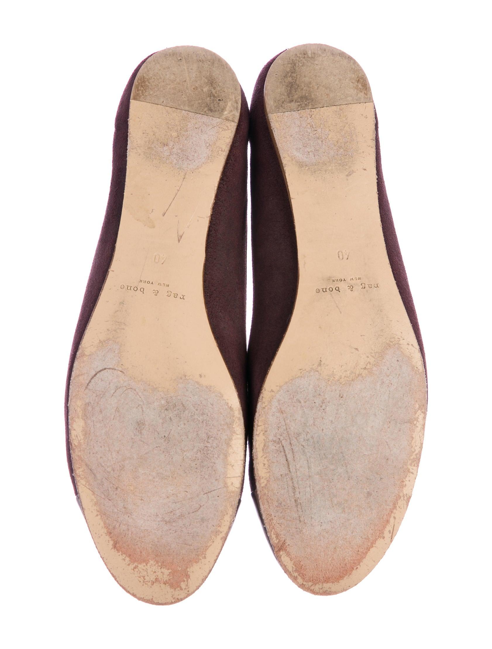 Rag & Bone Suede Cap-Toe Flats cheap get authentic 2014 newest online P8InC